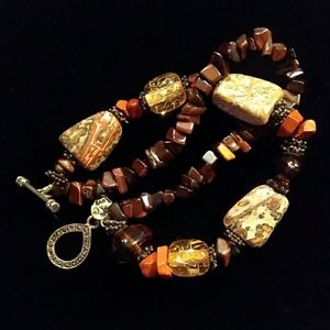 925 Silver Red Tiger Eye Jasper Gemstone Bracelet